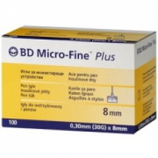 Иглы Микро-файн Плюс 30G(0,3х8 мм) №100