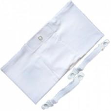 Чехол белый для ношения дозатора инсулинового на ноге р.М